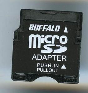 [メ]BUFFALO/microSDカード→miniSDカード変換アダプター