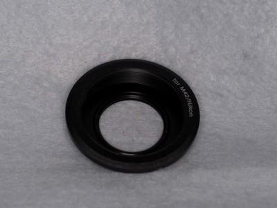 [メ]N/B M42-Fマウント 補正レンズ付きマウントアダプタ